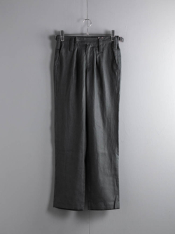 ARBRE | BRITISH ARMED FORCES BARRACK DRESS TROUSERS Charcoal Gray リネンポプリンイギリス軍バラックトラウザーズの商品画像