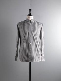 Sans Limite | S2101011 SH01B THOMAS MASON White X Black ロンストフリーダムスリーブボックスレギュラーシャツ