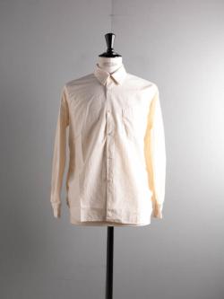 Sans Limite | S2101218 SH01B Off White シーチング2本針ボックスレギュラーシャツ