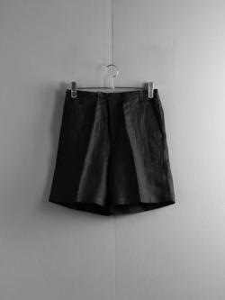 Westoveralls | GOOD FIT SHORT Black フレンチリネングッドフィットショーツの商品画像