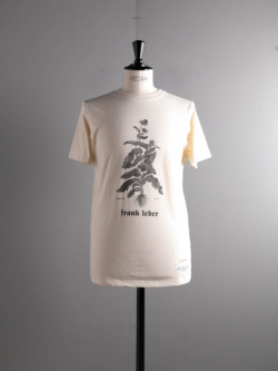 FRANK LEDER | CARLINA PRINTED COTTON T-SHIRT 80:Natural オーガニックコットンプリントTシャツの商品画像