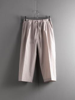 FRANK LEDER | TRIPLE WASHED THIN COTTON DRAWSTRING TROUSERS 95:Grey トリプルウォッシュコットンドローストリングワイドパンツの商品画像