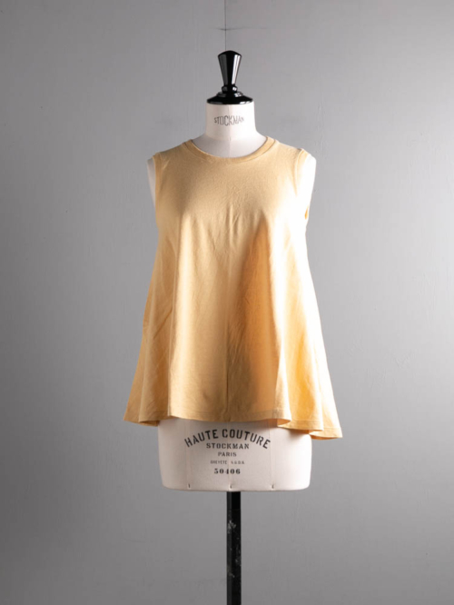 FilMelange | LINDA Sunshine Yellow リネンコットンクール天竺 ノースリーブ リンダの商品画像
