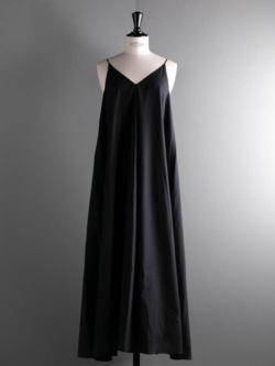 POSTELEGANT | HIGH COUNT COTTON CAMI DRESS Navy 高密度コットンキャミドレスの商品画像