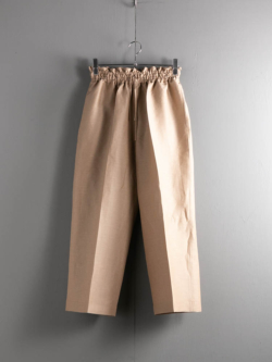 POSTELEGANT | LINEN SILK WIDE TROUSERS Dry Beige リネンシルクワイドトラウザーズの商品画像