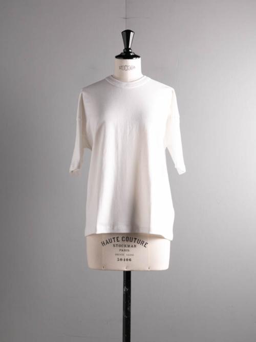 GICIPI | 2114P RUBINO Bianco コットンフライスリラックスフィットTシャツ ルビーノの商品画像