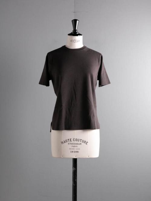BATONER | BN-21SL-034 32G SMOOTH KNIT T-SHIRT Brown 32ゲージスムースニットTシャツの商品画像