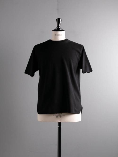 BATONER | BN-21SM-038 32G SMOOTH KNIT T-SHIRT Black 32ゲージスムースニットTシャツの商品画像