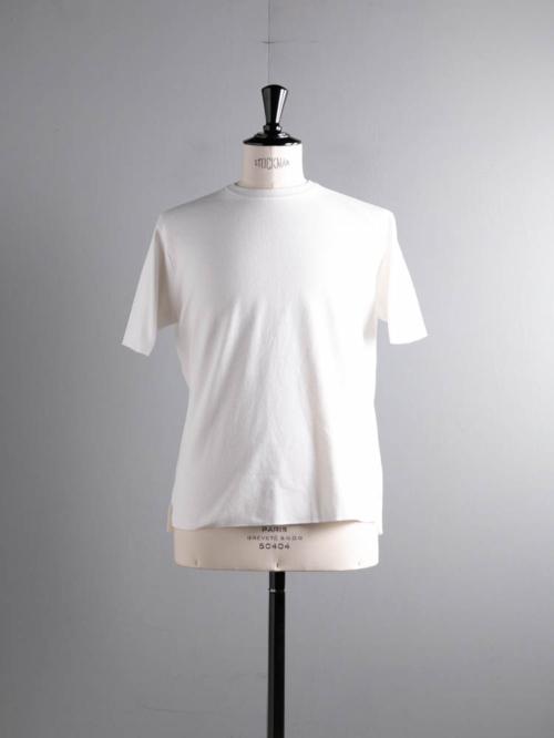 BATONER | BN-21SM-038 32G SMOOTH KNIT T-SHIRT White 32ゲージスムースニットTシャツの商品画像