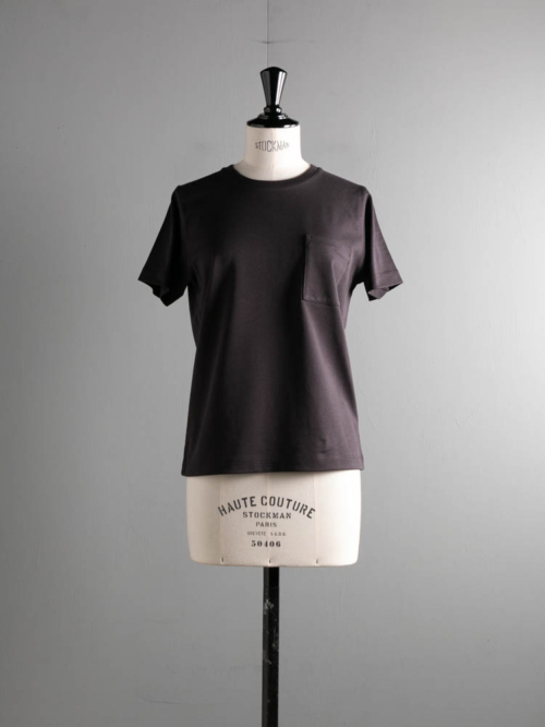 BN-21SL-039 HIGH COUNT ORGANIC COTTON T-SHIRT Chacoal Brown