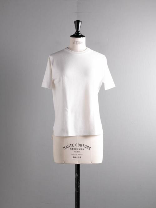 BATONER | BN-21SL-034 32G SMOOTH KNIT T-SHIRT White 32ゲージスムースニットTシャツの商品画像