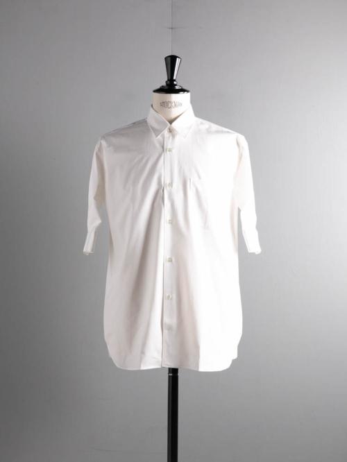 Sans Limite | S2101311 SH01BH White ブロードボックスレギュラーカラー五分袖シャツの商品画像