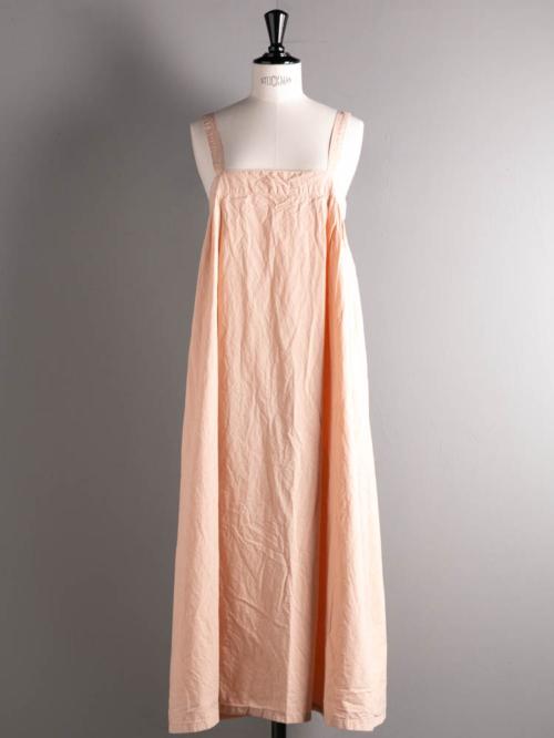 YARMO | BRACE GATHER DRESS COTTON CAMBRIC Beige コットンギャザードレスの商品画像