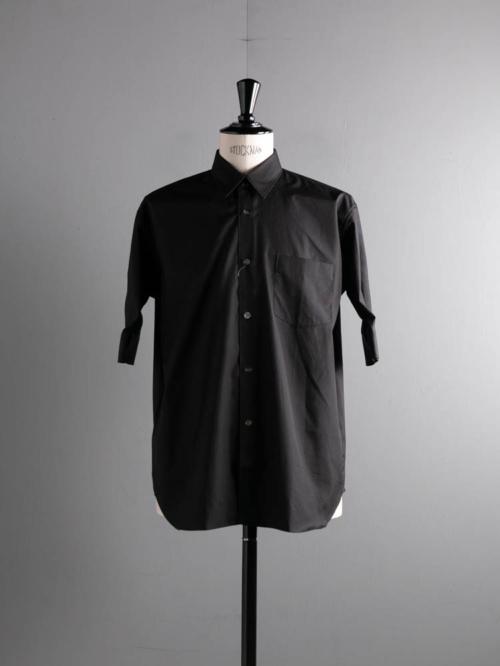 Sans Limite | S2101311 SH01BH Black ブロードボックスレギュラーカラー五分袖シャツの商品画像