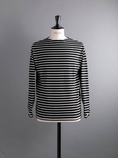 BATONER   BN-21FM-020 PILE WOOL BASQUE SHIRT Black×White パイルウールバスクシャツニットの商品画像
