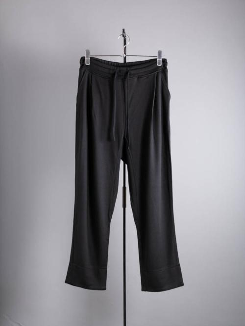YINDIGO A M | SL117 SILK GURKHA TROUSERS Black シルク裏毛グルカトラウザーズの商品画像
