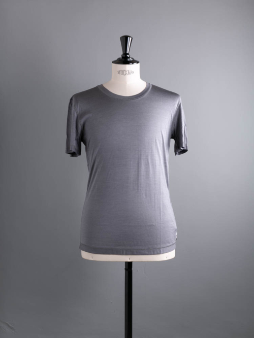 YINDIGO A M | SL009 SILK CREW T Heather ウォッシャブルシルク半袖Tシャツの商品画像