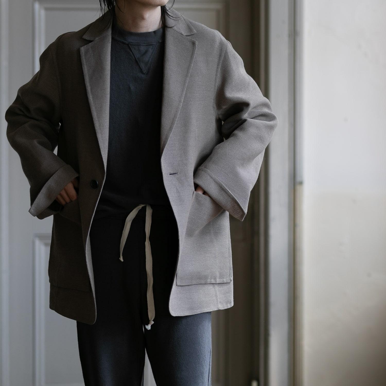POSTELEGANT 和紙ウールリバー仕立てテーラードジャケット