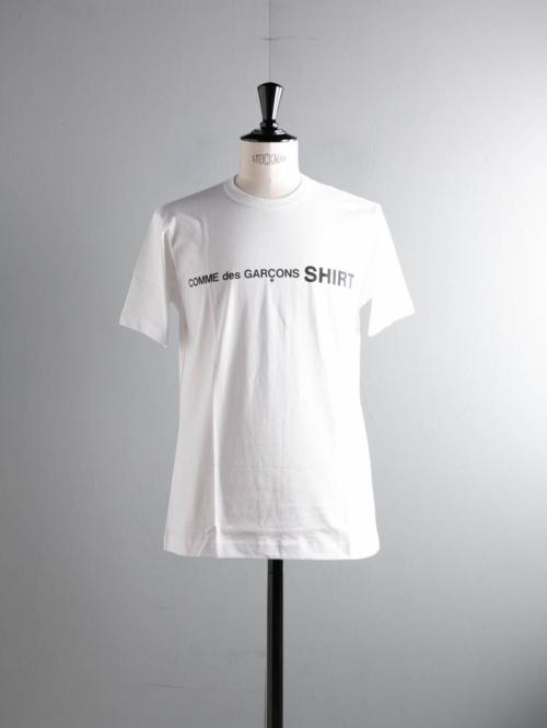 COMME DES GARCON SHIRT | SHORT SLEEVE T-SHIRT  White フロントロゴ半袖Tシャツの商品画像