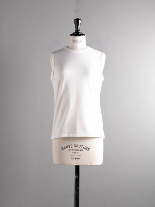 BATONER | BN-21SL-046 PACK TANK TOP White コットンノースリーブパックTシャツ