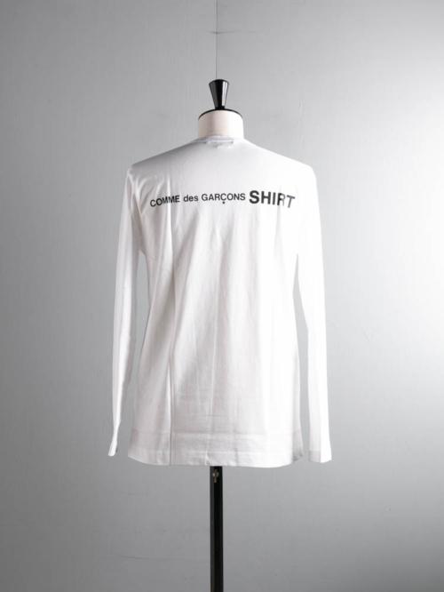 COMME DES GARCON SHIRT | LONG SLEEVE T-SHIRT White バックロゴ長袖Tシャツの商品画像