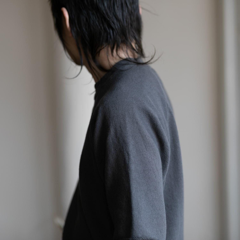 フィルメランジェ CARL エアリネン裏毛半袖スウェットシャツ カール スミクロ
