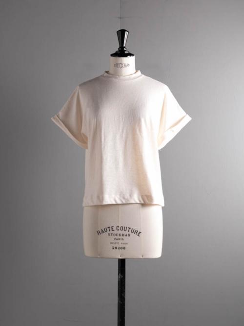 ABOUT | PALAIMATOP2 Off White リネンコットンショートスリーブTシャツの商品画像