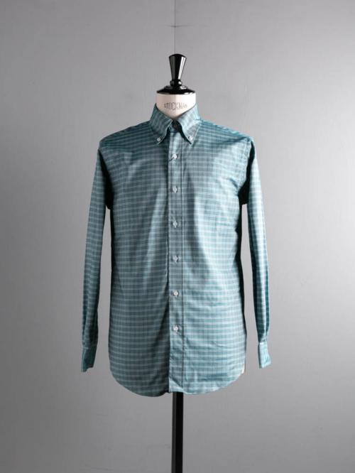 BROOKS BROTHERS | REGENT FIT MADE IN USA Green チェックオックスフォードボタンダウンシャツの商品画像