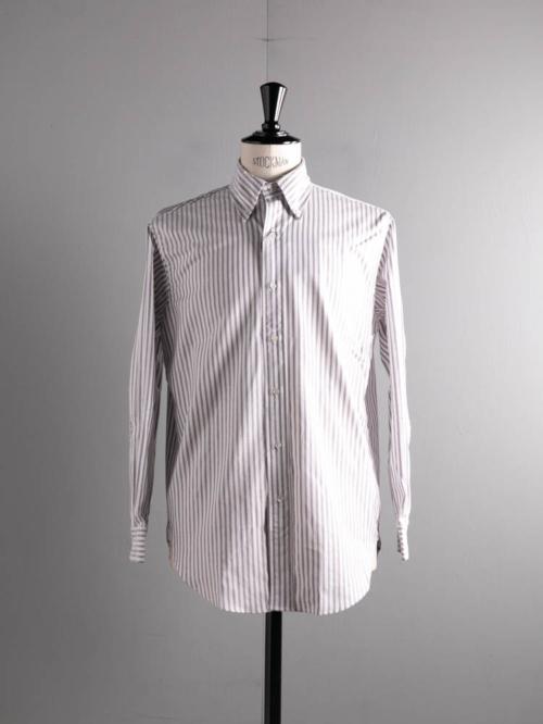 BROOKS BROTHERS | MADISON FIT MADE IN USA Purple ストライプオックスフォードボタンダウンシャツの商品画像