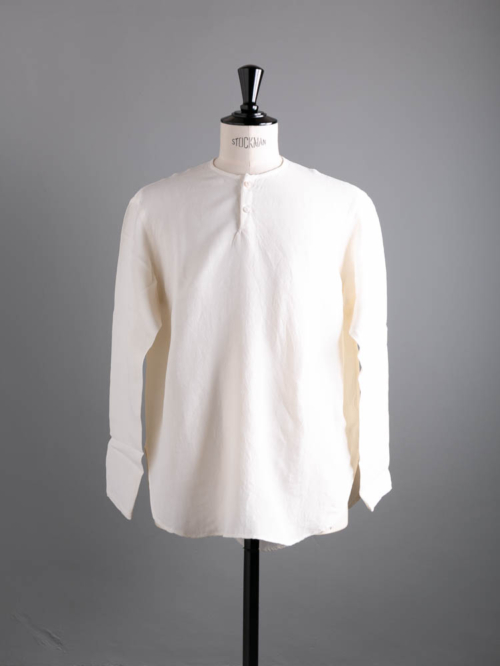 Aquellos Ojos Verdes BISHU | DRESSED RAYON WOOL ROUND HEM SLEEPING SHIRT White レーヨンウールスリーピングシャツの商品画像