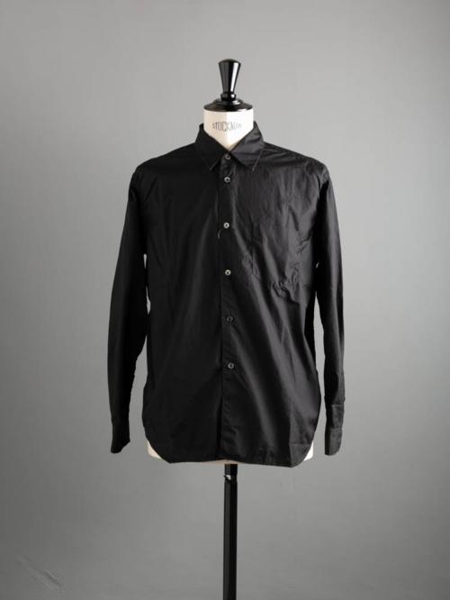 Sans Limite | S1901111 SH01B Black ブロード2本針ボックスレギュラーシャツの商品画像