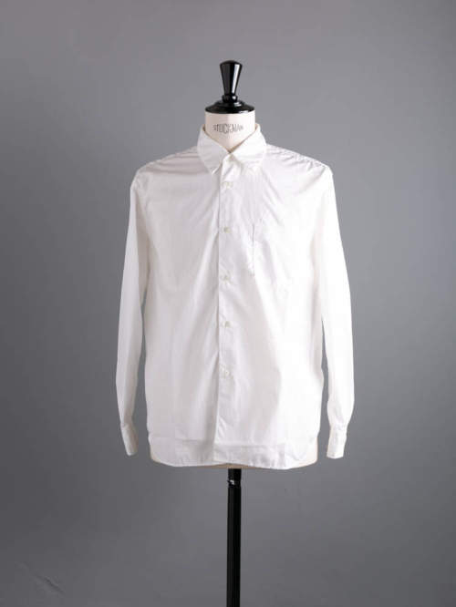 Sans Limite | S1901111 SH01B White ブロード2本針ボックスレギュラーシャツの商品画像
