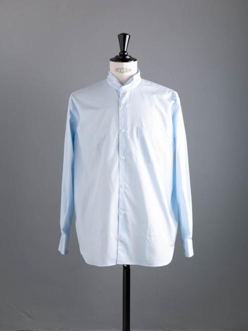 Sans Limite | W2101181 WING COLLAR Sax ブロードボックスウイングカラーシャツの商品画像