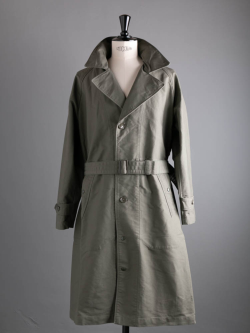 DRIZZLER COAT - COTTON DOUBLE CLOTH Olive
