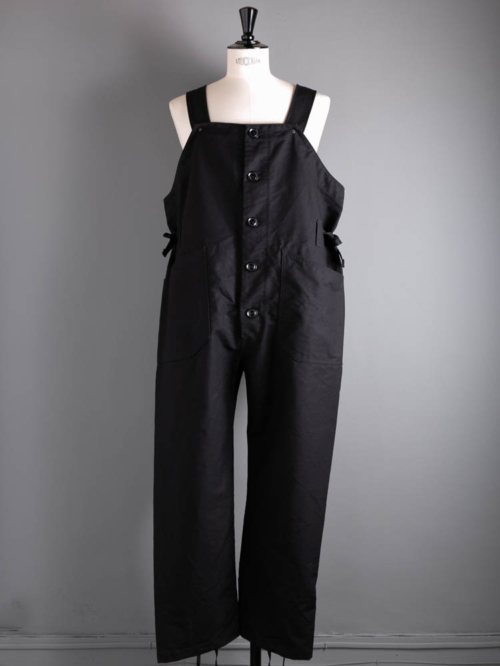 ENGINEERED GARMENTS | WADERS – COTTON DOUBLE CLOTH Black コットンダブルクロスウェーダーの商品画像
