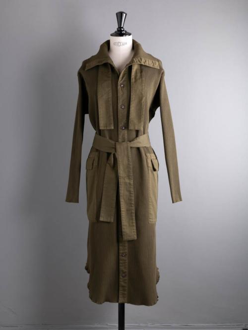 POSTELEGANT | COTTON WOVEN RIB HIGHNECK DRESS Mos コットンリブハイネックワンピース の商品画像