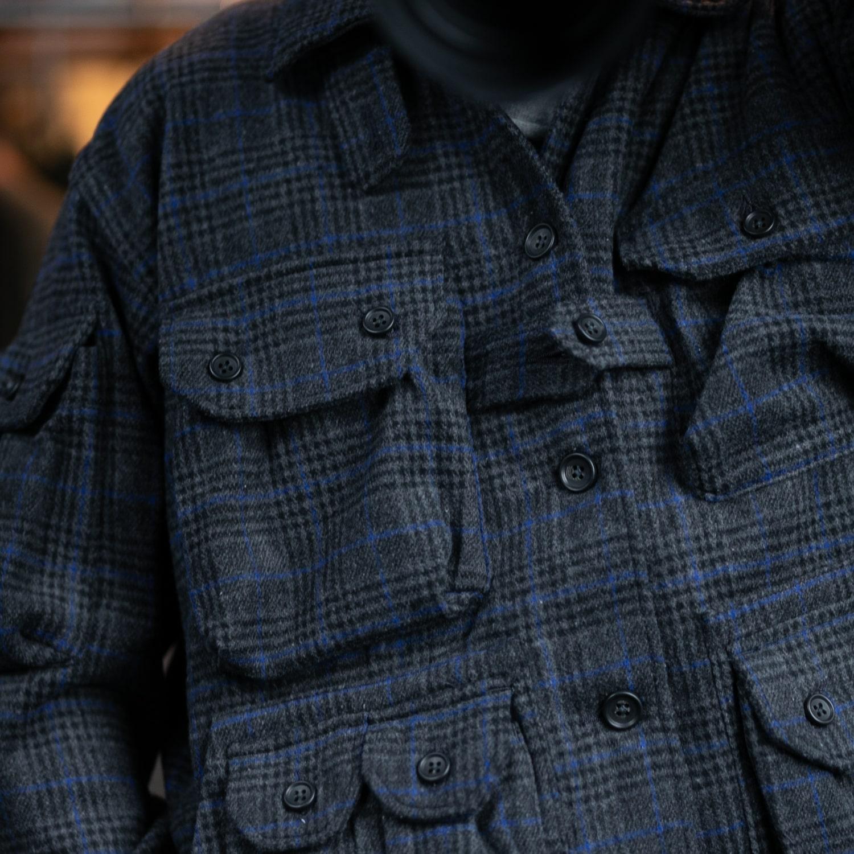 ガーメンツ エクスプローラーシャツジャケット グレンチェックの福岡通販取扱店