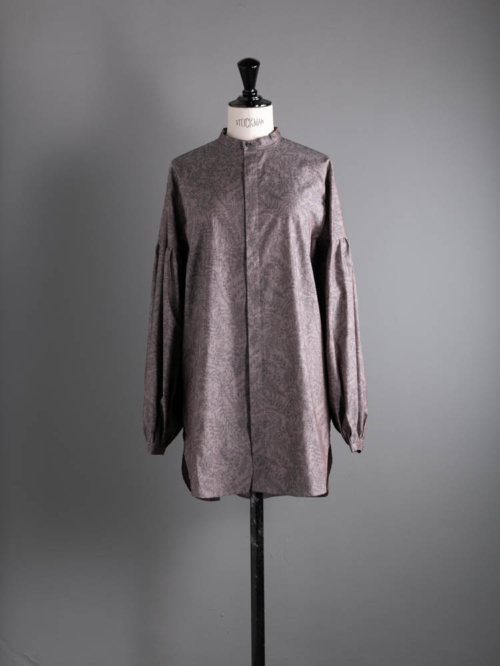 HONNETE   PAFFED SLEEVE LONG SHIRTS Montgomery Grey コットンパフスリーブロングシャツの商品画像